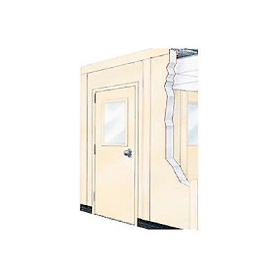"""Window For 2' Panel, 1/4"""" Clear Tempered Safety Glass"""