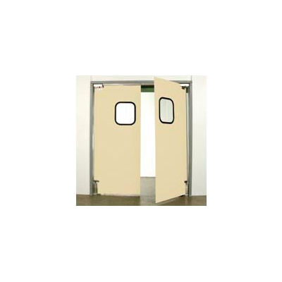 "Aleco® 6'0"" x 7'0"" Twin Panel Light Duty Beige Impact Door 431098"