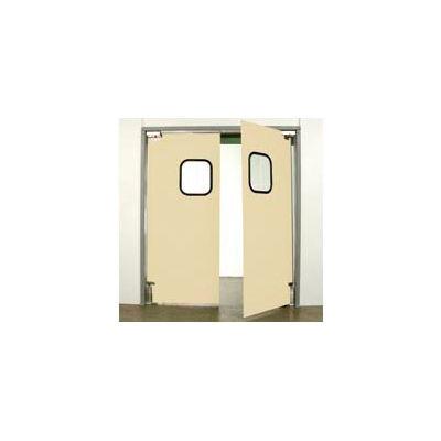 """Aleco® 7'0"""" x 8'0"""" Twin Panel Light Duty Beige Impact Door 431362"""