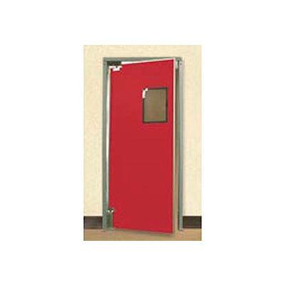 "Aleco® 3'0"" x 8'0"" Single Panel Medium Duty Red Impact Door 432080"