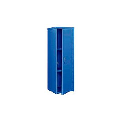 Pucel Heavy Duty Extra Wide Welded Steel Locker Single Tier 24x24x74 1 Door Blue