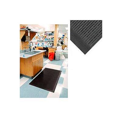 "Wearwell® Upfront Scraper Mat Unslotted 5/16"" Thick 3' x 60' Black"