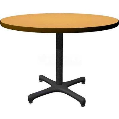 "Allied Plastics Round Restaurant Table - 42"" - Oak"