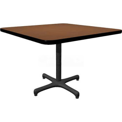 "Allied Plastics Square Restaurant Table - 42"" - Walnut"