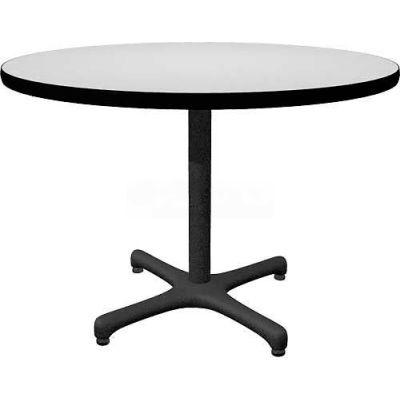 "Allied Plastics Round Restaurant Table - 42"" - Gray"