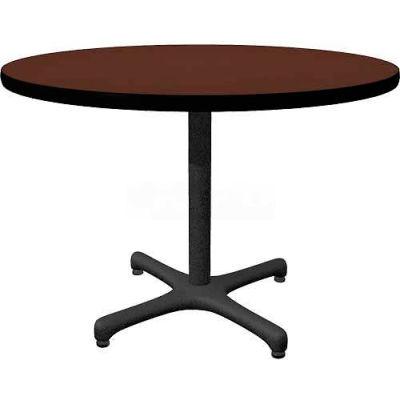 "Allied Plastics Round Restaurant Table - 42"" - Mahogany"