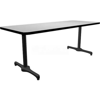 "Allied Plastics Restaurant Table - 48"" x 30"" - Gray"