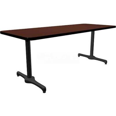 "Allied Plastics Lunchroom Table - 72"" x 36"" - Mahogany"