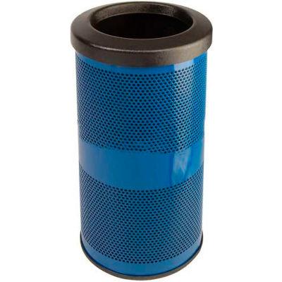 Perforated Stadium Series® Trash Container - 10 Gallon Blue - SC10-01-BL