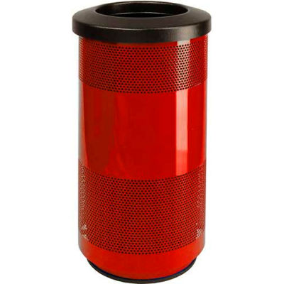 Perforated Stadium Series® Trash Container - 20 Gallon Red - SC20-01-RD