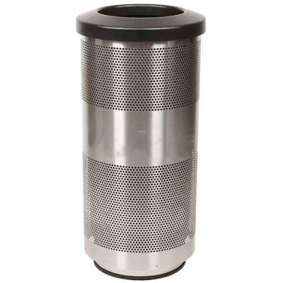 Perforated Stadium Series® Trash Container - 20 Gallon Stainless Steel - SC20-01-SS