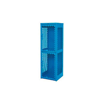 Pucel Heavy Duty Extra Wide Vented Steel Locker Triple Tier 24x24x74 3 Door Blue