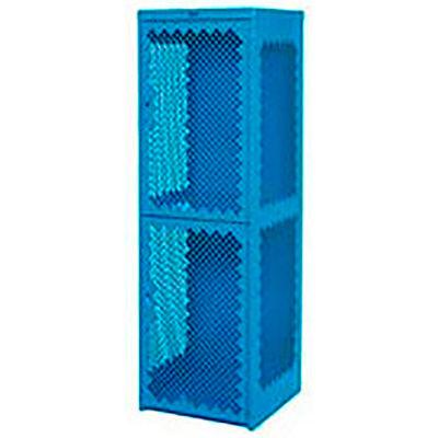 Pucel Heavy Duty Extra Wide Vented Steel Locker Single Tier 18x18x75 1 Door Blue