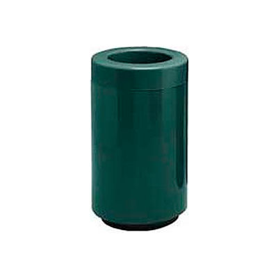 Fiberglass Waste Receptacle with Open Top - 18 Gallon Capacity Green - 7C-1831T-PD-28