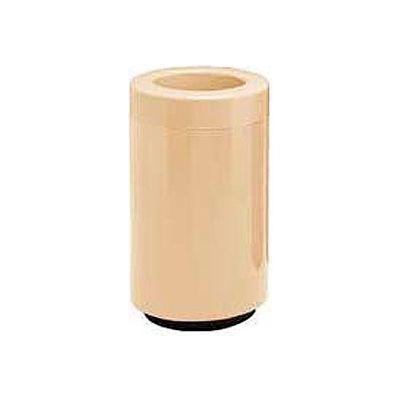 Fiberglass Waste Receptacle with Open Top - 18 Gallon Capacity Tan - 7C-1831T-DC-11