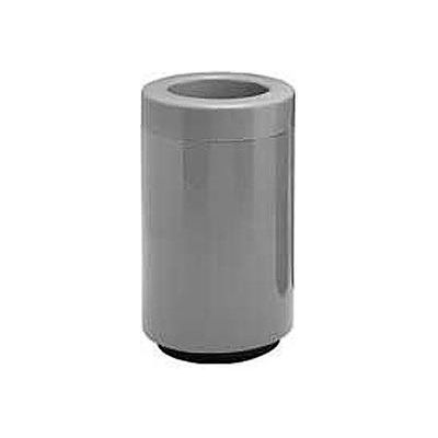 Fiberglass Waste Receptacle with Open Top - 18 Gallon Capacity Gray - 7C-1831T-PD-2
