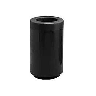 Fiberglass Waste Receptacle with Open Top - 25 Gallon Capacity Black - 7C-2034T-DC-34