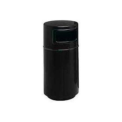 Fiberglass Trash Container with Dome Top - 25 Gallon Capacity Black - 7C-2040T-DC-34