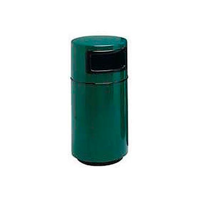 Fiberglass Trash Container with Dome Top - 25 Gallon Capacity Green - 7C-2040T-PD-28