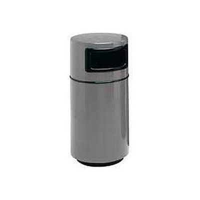 Fiberglass Trash Container with Dome Top - 25 Gallon Capacity Gray - 7C-2040T-PD-2
