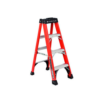 Louisville 4' Fiberglass Step Ladder - 375 lb Cap. - FS1404HD