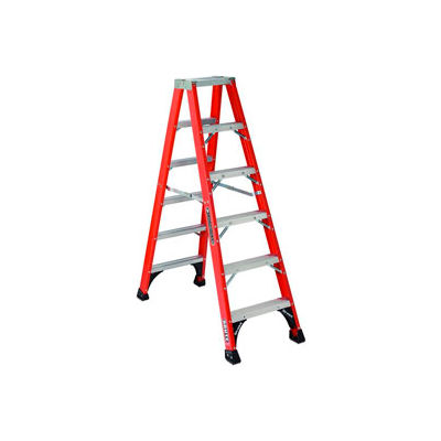 Louisville 5' Fiberglass Step Ladder - 375 lb Cap. - FS1405HD