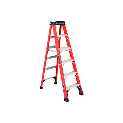 Louisville 6' Fiberglass Step Ladder - 375 lb Cap. - FS1406HD