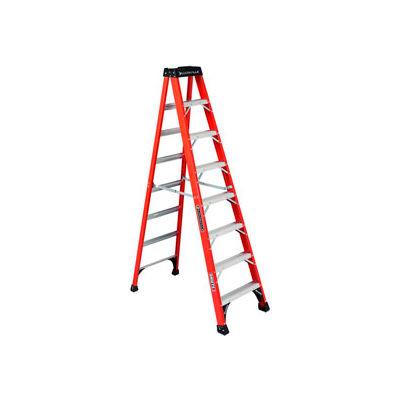 Louisville 8' Fiberglass Step Ladder - 375 lb Cap. - FS1408HD