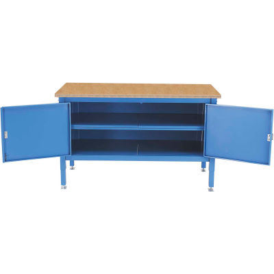 72 x 30 Security Cabinet Bench - Shop Top Safety Edge