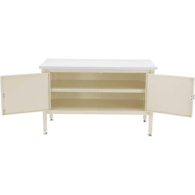60 x 30 Security Cabinet Bench - Plastic Safety Edge