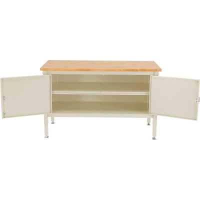 60 x 30 Security Cabinet Bench - Maple Safety Edge