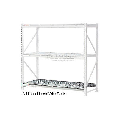 """Global Industrial™ Additional Level 96""""W x 48""""D Wire Deck"""