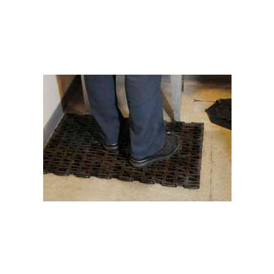 """Durable Corporation Durite Recycled Tire Anti Fatigue Mat 5/8"""" Thick 2.5' X 5' Black"""
