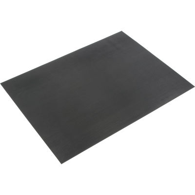 """Durable Corporation Corrugated Rubber Runner 1/8"""" Thick 3' x 75' Black"""