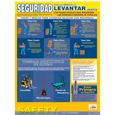 Poster, Back Lifting Safety (Spanish), 24 x 18