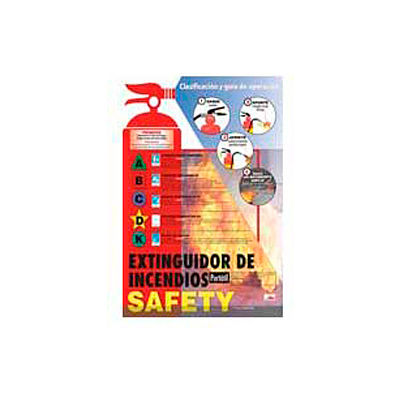 Poster, Fire Extinguisher Safety (Spanish), 24 x 18