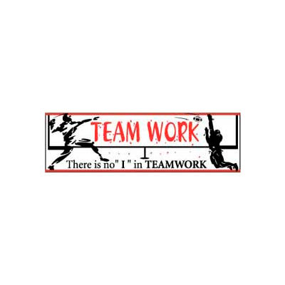 """Banner, There is no """"I"""" in Teamwork 3ft x 10ft"""
