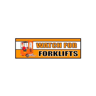 Banner, Watch for Forklifts, 3ft x 10ft