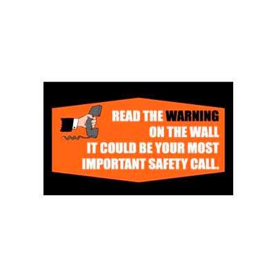 Banner, Read the Warning, 3ft x 5ft