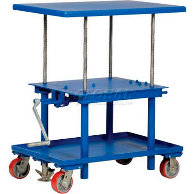 Hand Crank Operated Mechanical Post Table MT-2436-LP 24 x 36 Low Profile