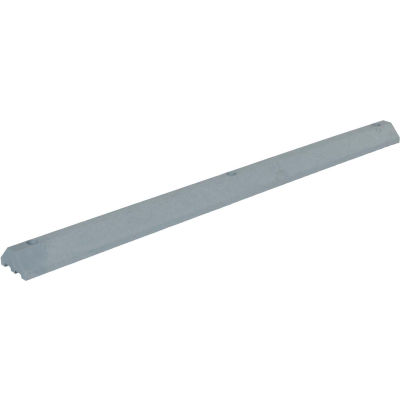 "Lightweight Recycled Plastic Car Stop, 72""L x 6""W x 3-1/4""H, Gray"