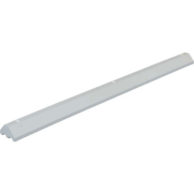 "Lightweight Recycled Plastic Car Stop, 72""L x 6""W x 3-1/4""H, White"