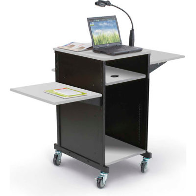 Xtra Wide Presentation Cart - Gray