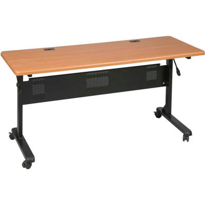 "Balt® Flipper Training Table, 60"" x 24"", Teak"