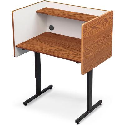 Balt® 89788 Height Adjustable Study Carrel - Oak