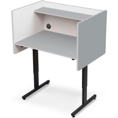 Balt® 89789 Height Adjustable Study Carrel - Gray