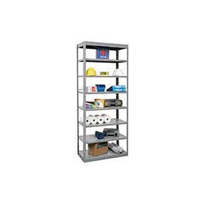 "Hallowell Steel Shelving  36""Wx12""Dx87""H Open Clip Style 8 Shelf"