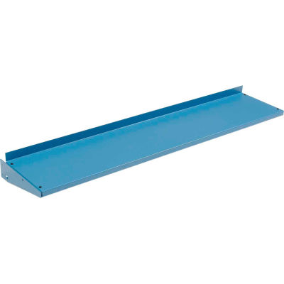 "Global Industrial™ Cantilever Upper Steel Shelf For Bench Uprights - 96""W x 12""D - Blue"