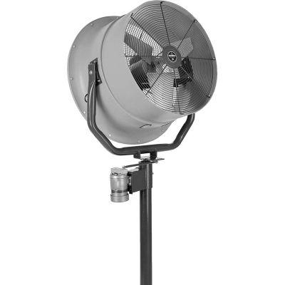 Jetaire® 24 Inch High Velocity Fan, Oscillating, 460 V, 3PH, 5600 CFM, 1/2 HP, Gray HV2413OC-Z