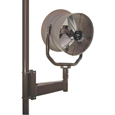 """Jetaire® 24"""" Horizontal Mount Fan With Poly Housing 1 HP, 230V, 1PH, 5900 CFM"""